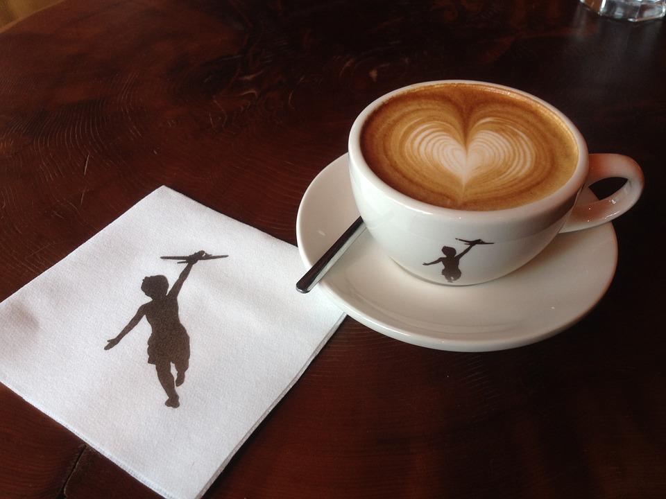 קפה עם לב